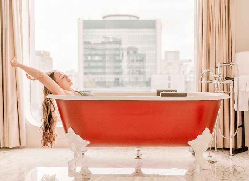 turn bathroom into spa